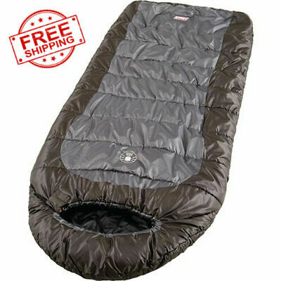 $59.76 • Buy Sleeping Bag Mummy Camping Cold Weather 0 Degree Hiking Outdoor Gray Brown