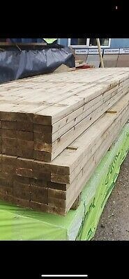 3 X 2 Timber, Treated Timber 3x2 C24grade,all Lengths Available Nextday Delivery • 49.99£