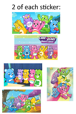 £2.35 • Buy 10 Care Bears (New Design) Glossy Stickers, Party Favors