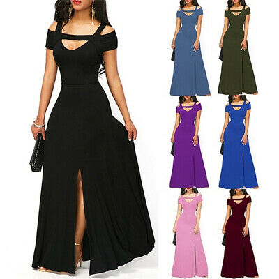 £10.16 • Buy Summer Cold Shoulder Ball Gown Prom Cocktail Ladies Evening Party Dress SG