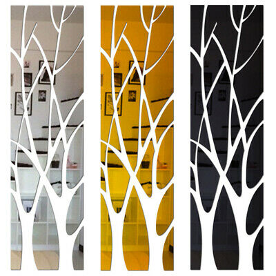 £9.69 • Buy Modern Acrylic Tree Mirror Wall Sticker Removable Wall Art Decal Home Decor