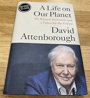 AU270.49 • Buy David Attenborough SIGNED A Life On Our Planet Book Hardback Autograph New