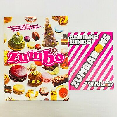 AU89 • Buy  2 X Adriano Zumbo Books AUTOGRAPHED Fantasyland Of Macarons Cooking Recipes
