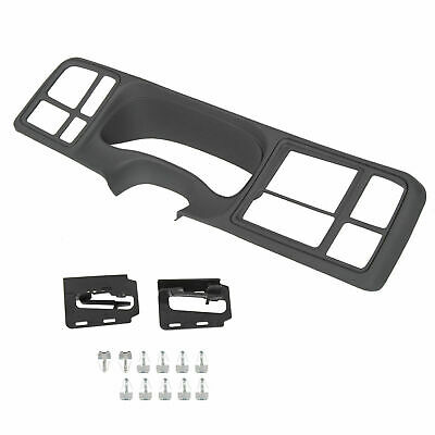$78.50 • Buy For 1999-02 Cadillac Chevrolet GMC Full-Size Black ABS Double DIN Truck Dash Kit