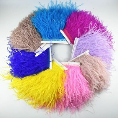 £6.06 • Buy Ostrich Feather Trim Skirt White Tape Ribbon Feather Crafts Decorations Clothes