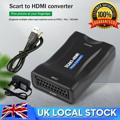 £8.89 • Buy SCART To HDMI Composite 1080P Video Scaler Converter Audio Adapter For DVD TV