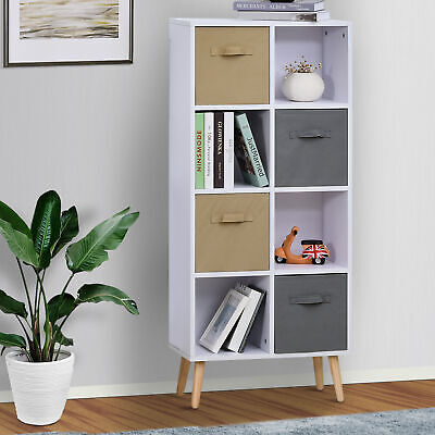 £49.99 • Buy Freestanding 8 Cube Storage Cabinet Unit W/ 4 Drawers Bookcase Display Shelves