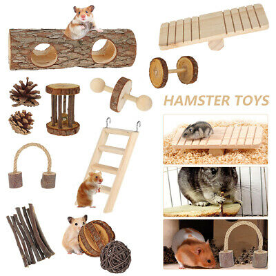£13.99 • Buy 12 Pack Of Wooden Hamster Chew Toy Hamster Rabbit Guinea Pig Accessories Set A