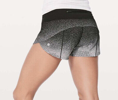 $ CDN112.98 • Buy NWT Lululemon Ombre Speckle Stop Print Speed Up LR Shorts 2.5 Size12Black White