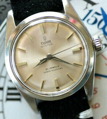 $ CDN1686.83 • Buy Vintage Tudor By Rolex Manual Winding Watch Lovely Silver  Rose  Dial Runs Great