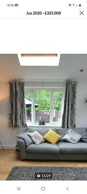 £9.75 • Buy Pair Of Grey And Mustard Curtains From Dunelm Mill. Used But Great Condition!