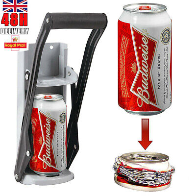 £10.99 • Buy 16oz Heavy Duty Beer Tin Can Crusher Wall Mounted Recycling Tool Bottle Openers