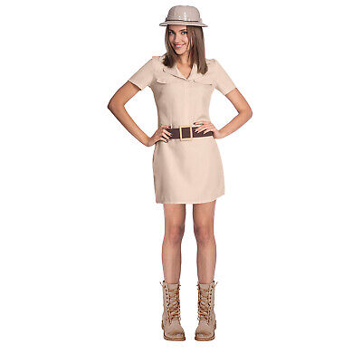 Adult Jungle Safari Woman Fancy Dress Costume Explorer Zoo Keeper Ladies Outfit • 16.61£