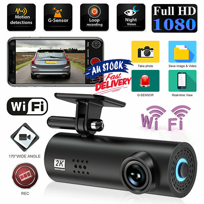 AU42.99 • Buy Mini WIFI Dash Cam HD1080P Car DVR Camera Video Recorder Night Vision G-sensor!