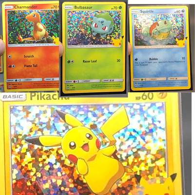 $4.90 • Buy McDonalds POKEMON 2021 25th Anniversary 25 HOLO Cards Complete Your Set Pikachu