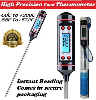 £3.68 • Buy Digital Food Thermometer Probe Cooking Meat Kitchen Temperature BBQ Grill Water