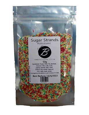 £1.89 • Buy Sprinkles Sugar Strands Rainbow Hundreds Thousands Cup Cake Fairy Topper