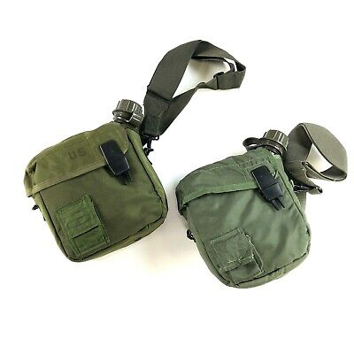 $ CDN36.26 • Buy 2 Military 2 Quart Canteen W Insulated Carrying Pouch W ALICE Sling Olive Drab