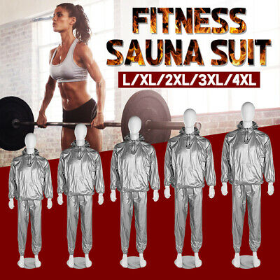 AU16.71 • Buy  Women Men Sweat Sauna Gym Suit Fitness Loss Weight Exercise Training Body Work