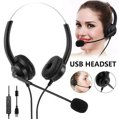 £11.69 • Buy  USB Headset Telephone Call Centre Noise Cancelling Headset With Microphone UK