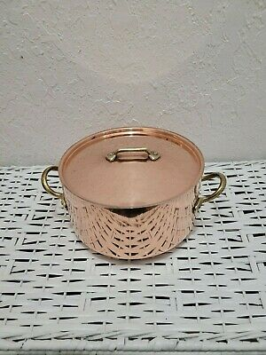 $ CDN121.44 • Buy VINTAGE 3 QUART COPPER HEAVY WEIGHT SAUCEPAN WITH LID New W/O TAG