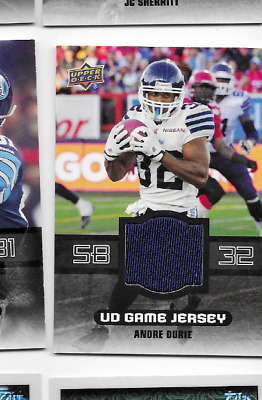 AU3.25 • Buy 2014 Upper Deck CFL Jersey Card Andre Durie Argos GJ-AD
