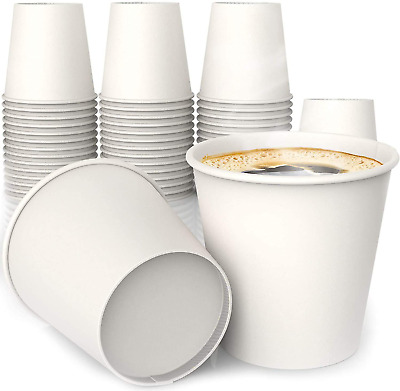 AU12.05 • Buy 4 Oz All-Purpose White Paper Cups (50 Ct) - Hot Beverage Cup For Espresso Coffee
