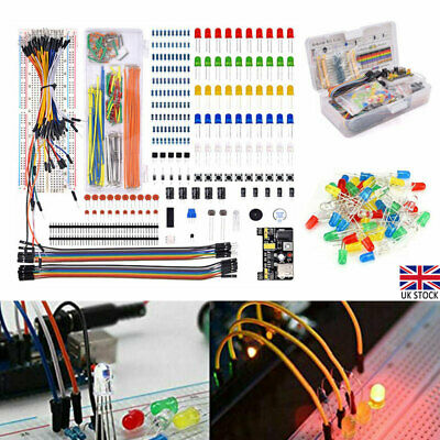 £11.51 • Buy Electronic Component Starter LED Buzzer Resistor Wires Breadboard Transistor Hot