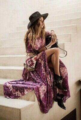 AU250 • Buy SPELL & THE GYPSY COLLECTIVE *KISS THE SKY* Maxi Skirt In Violet 🦄 XS Rare