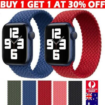AU13.89 • Buy For Apple Watch Series 6 5 4 3 SE Fabric Nylon Braided Strap Band 38/40/42/44
