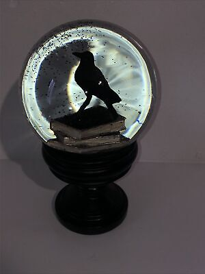 £75 • Buy Gothic Snow Globe - Crow Ponders Upon Literature- Ornament - Glass