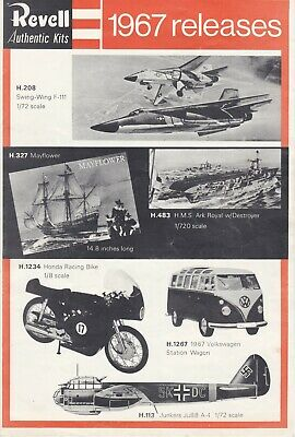 £5 • Buy Revell 1967 New Releases FoldOut  Catalogue