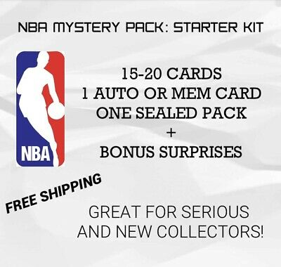 $ CDN24 • Buy NBA Mystery Pack: Starter Kit - Auto, Mem, Lots Of Cards, Rookies, Sealed Pack..
