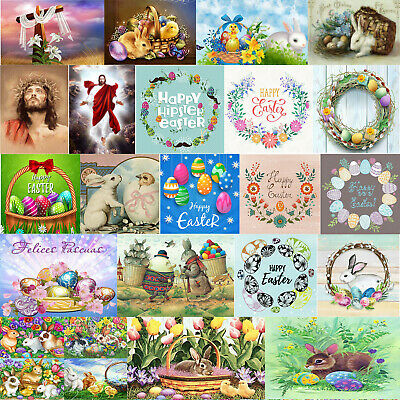 EASTER DECORATIONS 5D Diamond Painting Embroidery Cross Craft Stitch Home Decor • 3.25£