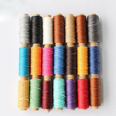 £3.35 • Buy 50 Meters Durable 1mm 150D Leather Waxed Thread Cord For DIY Sewing Line*