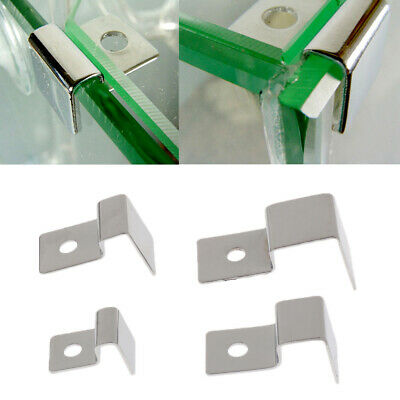 AU9.46 • Buy 4x Aquarium Tank Glass Cover Clip Support Holder Set W/Foot-Pad Stainless Steel
