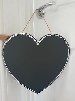 £5 • Buy Heart Shaped Chalkboard With White Outline