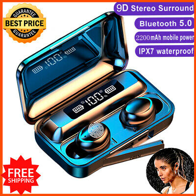 $ CDN26.42 • Buy Waterproof IPX7 Wireless Earphone Bluetooth Earbuds For Iphone Android Samsung