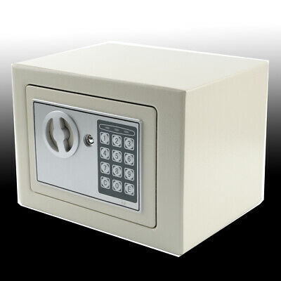 Electronic Security Safe Cash Box Home Office Safety White Color Password • 17.99£