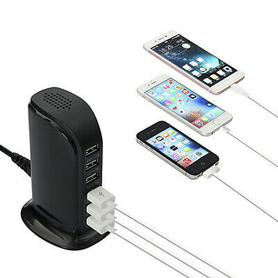 £9.99 • Buy 6Port FAST Multi USB Charger UK Plug Adapter 30W For IPhone IPad Samsung Tablets