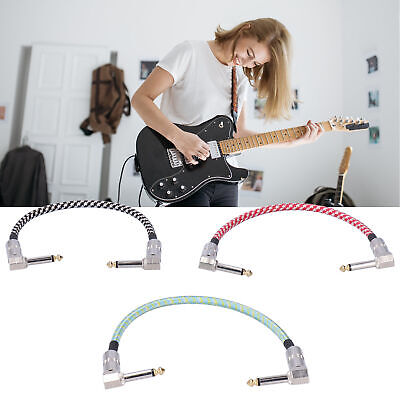 $ CDN12.49 • Buy 3Pcs Guitar Effect Pedal Cables Braided Connector For Guitar Effects Accessories