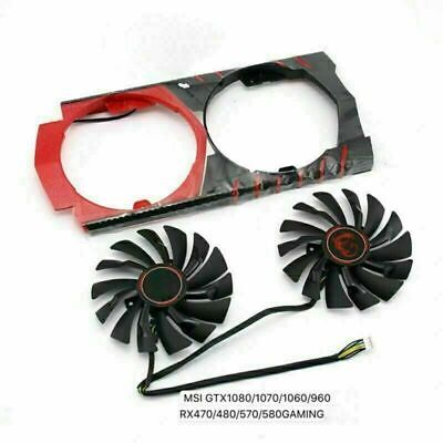 £18.44 • Buy 2X Cooler Cooling Fan For MSI GTX1080 1070 1060 960 RX470 480 570 580 GAME Card