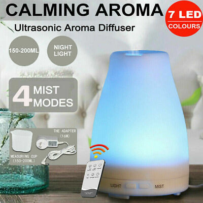 AU18.99 • Buy NEW Ultrasonic Aroma Diffuser Aromatherapy Oil LED Air Humidifier Purifier White