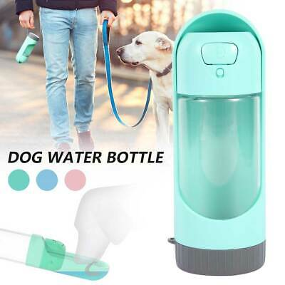 Portable Dog Water Bottle Drinking Cup Feeder Dispenser Travel Bottle 300ML UK • 9.89£