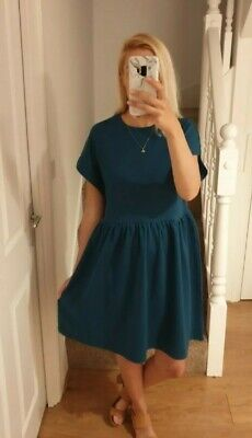 £16.95 • Buy Women's Teal Short Sleeve Dress Zara BNWT Size S, 8-10 Could Be Post Maternity