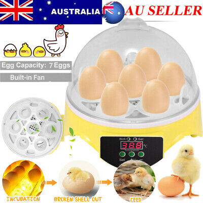 AU17.89 • Buy Mini 7 Egg Duck Incubator Automatic Digital Hatcher Chicken Poultry Home Gift