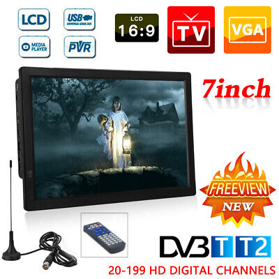 """£77.99 • Buy 7/9/10/12/14"""" Portable 1080P Ultra-HD TV Freeview HDMI Digital Television Player"""