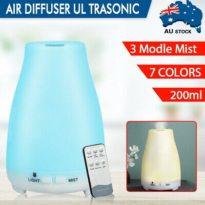 AU23.99 • Buy Essential Oil+Humidifier Ultrasonic Air Diffuser Aroma Aromatherapy Air Purifier