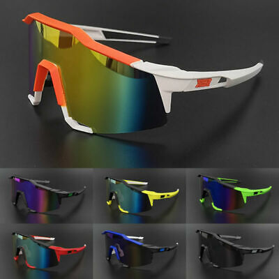 AU10.99 • Buy Sport Goggles Men's Outdoor Cycling Windproof Sunglasses Mirrored Shades Glasses