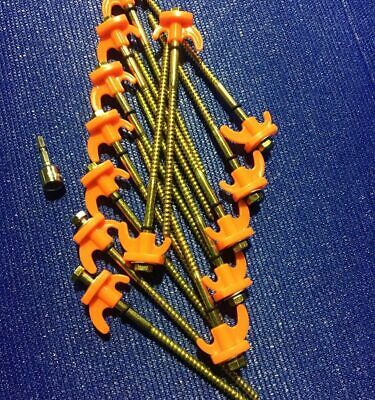 AU55 • Buy 30 Screw In Tent Pegs (Including A Fabric Bag)